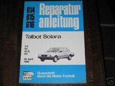 Reparaturanleitung Talbot Solara