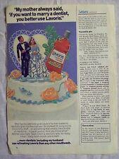 1977 Magazine Advertisement Page Lavoris Mouthwash & Gargle Wedding Cake Ad