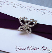 Butterfly Wedding Invitation Rhinestone Crystal Buckle