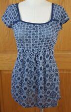 Maurices Women's Short Sleeve Semi-Sheer Blue Shirt Size XS