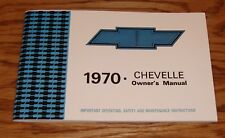 1970 Chevrolet Chevelle Owners Operators Manual 70 Chevy