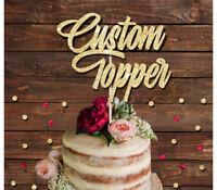 CUSTOM GLITTER CAKE TOPPER, PERSONALISED NAME TOPPER, BIRTHDAYS, BABY SHOWER