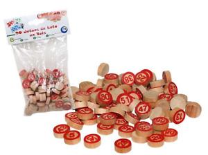 Jetons de Loto en Bois, Lot de 90 pions numérotés de 1 a 90 Jeux loto bingo