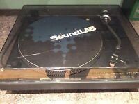 Soundlab DLP1600 Belt Drive Professional DJ Desk Turntables. R!