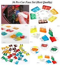 36 x NEW CAR FUSE AUTOMOTIVE BLADE FUSES MIX SET 7.5 10 15 20 25 & 30 AMP 36PACK