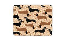 Funky Cute Sausage Dog Mouse Mat Pad - Flowery Dachshund Computer Gift #16334