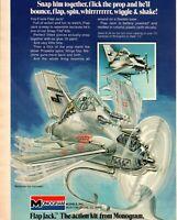 Monogram Flap Jack Plane Hobby Kit Battery Powered 1974 Vintage Print Ad