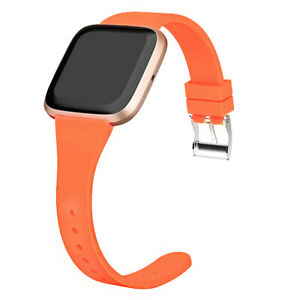 Silicone Bracelet Narrow Band Strap for Fitbit Versa 2 /Versa /Versa Lite Watch