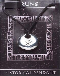 Viking Rune Stone Pendant  -  Wealth