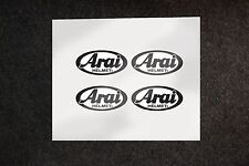4x Arai helmets stickers decals helmet vinyl visor
