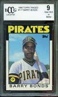 1986 Topps Traded #11T Barry Bonds Rookie Card BGS BCCG 9 Near Mint+
