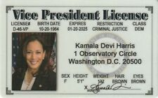 Vice President Elect Kamala Harris fake I.D card Drivers License