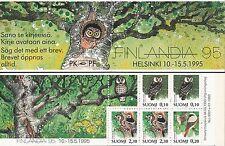 Finland 1993 MNH Booklet - Finlandia 95 Philatelic Exhibition - Owl Woodpecker