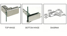 Chrome Surface Mount Glass Door Hinges