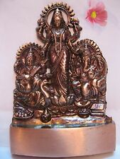 GANESHA GANESH LAKSHMI SARASWATI BRASS PLATED STATUE~ FOR WEALTH & PROSPERITY