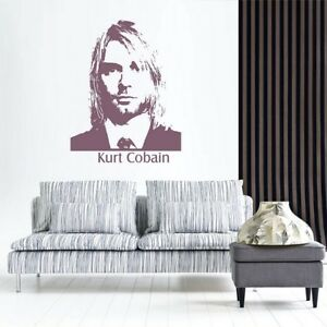Kurt Cobain Wall Sticker Bedroom Rock Music Idol Removable Decal Living Room