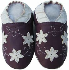 shoeszoo star flower purple 2-3y S soft sole leather toddler shoes