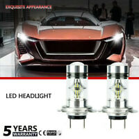 H7 10000W 150000LM Car LED headlight COB Kit Fog light 6000K White HighQuality2x