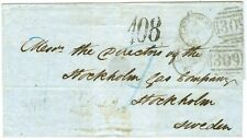 "SWEDEN/GREAT BRITAIN: Cover from London to Stockholm 1865, postage due ""108""."