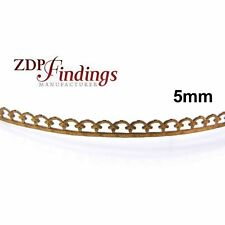 24 Inch (61cm) x 5mm Width Brass Strip Gallery Decorative Ribbon Filigree Patter