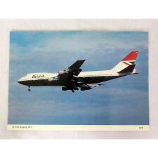 Británico Airways - Boeing 747 - GAWNA - Avión Tarjeta postal - Bueno Calidad