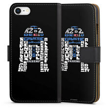 Apple iPhone 8 Tasche Hülle Flip Case - R2-D2 Typo
