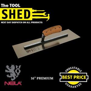 "NELA Premium Chrome Plastering Trowel 16"" - Lowest Price Guaranteed"