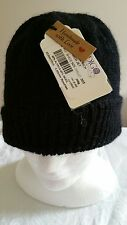 Hand Knitted Alpaca and Wool Mens Beanie Black Colour