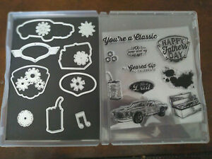 Unbranded Geared Up Garage Stamp & Die Set