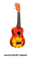 Amahi DDUK5 Orange Flower Design Ukulele w/bag FREE SHIPPING to ALL US Zip Codes