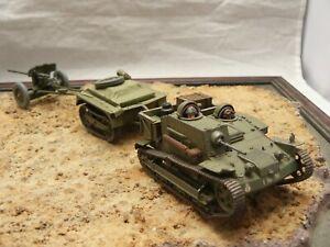 1/35 Built French AMR-UE Citroen-Kregresse/Renault Tank with Trailer & AT Gun