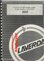 Laverda 668 Twin (1996-1998) Genuine Parts List Book Catalogue Manual BY75