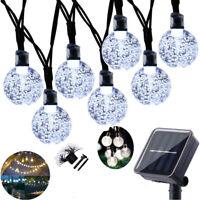 Solar Powered 50 LED String Light Garden Path Yard Decor Lamp Waterproof Outdoor