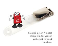 Suspender Clip / ID Card Holder With Plastic Popper x 25