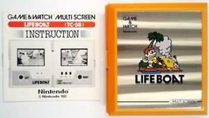 LIFE BOAT MULTISCREEN GAME & WATCH 1983 incl. manual - MINT / TOP - Nintendo