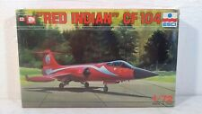 "Vintage ESCI ""Red Indian"" CF104 1:72 Scale Airplane Model Kit # 9044"