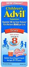 Advil Fever Reducer/Pain Reliever Oral Suspension, Bubble Gum 4 oz