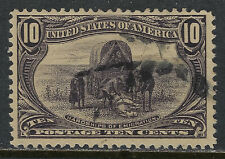 SCOTT 290 1898 10 CENT TRANS-MISSISSIPPI EXPOSITION ISSUE USED VF CAT $35!