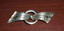 Forstner Ribbon Brooch Pin Vintage 925 Sterling Silver Signed
