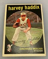 1959 Topps # 184 Harvey Haddix Baseball Card Cincinnati Redlegs Reds Red Legs