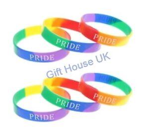 Pride Wrist Band Rainbow Parade Freedom Unisex Silicone Bracelet Party Theme