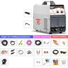 Argon arc welding Plasma Cutter AC/DC TIG/MMA 3In1 Welding Machine + Accessories
