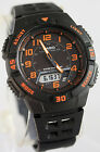 Casio AQ-S800W-1B2 SOLAR POWER Watch Orange Black 5 Alarms 100M WR World Time