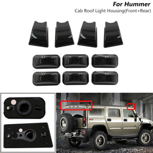 10x Smoked Top Roof Cab Marker Light Housing Cover For Hummer H2 / SUT 2003-2009