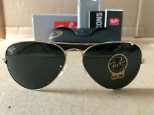 Ray Ban Aviator Sunglasses Gold Frame / Crystal Green Lens 58MM ---