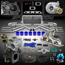T25 8PC TURBO KIT+MANIFOLD+INTERCOOLER 89-93 TOYOTA CELICA 88-97 COROLLA 4A-FE