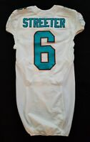 #6 Tommy Streeter of Dolphins NFL Locker Room Game Issued Jersey w 50th Patch