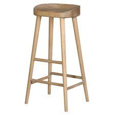 Weathered Oak Wooden Farmhouse Kitchen Dining Furniture Breakfast Bar Seat Stool