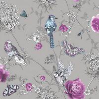 Fantasia Paradis Jardin Paillette Papier Peint - arthouse Argent 692403
