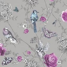 FANTASIA PARADISE GARDEN GLITTER WALLPAPER - ARTHOUSE SILVER 692403
